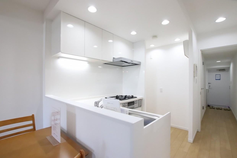 リビングと一体化したオープンキッチン