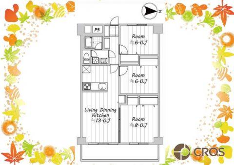 全居室に6帖以上の広さと大きめの収納がある暮らしやすい間取り
