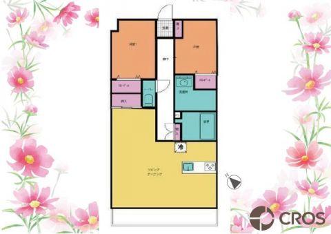 ゆったりとした広さのリビングが魅力の間取り。各居室にも大きめ
